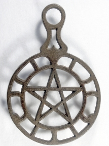 """JZH 1945 D: 7 1/2 x 5"""". Star in center."""